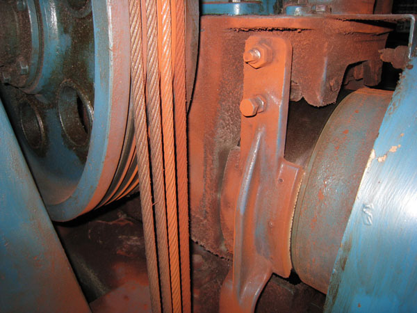Severe rope corrosion