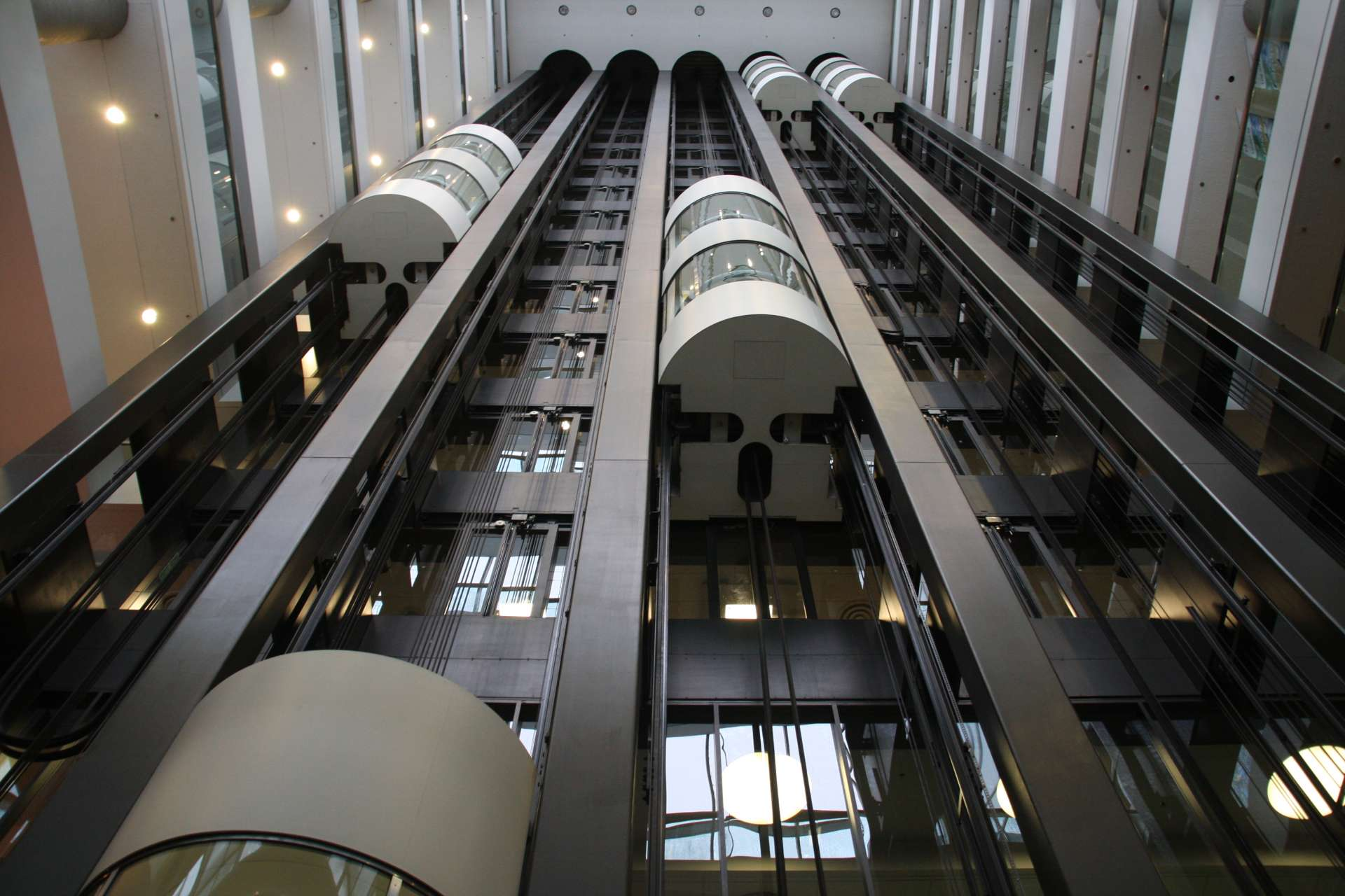 Double deck elevators at CD Howe Building, Ottawa